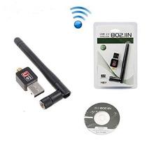 Tarjeta Usb Antena Wifi 150mbps 802.11n/g/b Redes + Potente