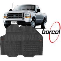 Tapete Borracha Ford F250 Borcol 2 Peças Cabine Dianteira