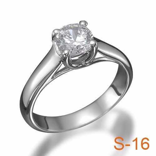 Anillo Compromiso Diamante Natural .40ct (puntos) Oro 14 Kt ... e24d62f238
