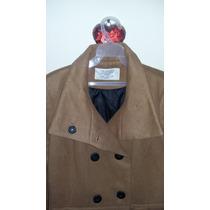 Abrigo Para Mujer Largo Estilo Gamuza Marca Zara