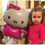 Globo Mediano Hello Kitty Cumpleaños Niña Fiesta Party