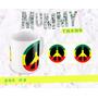 Taza Ceramica De Diseño Paz Hippie // Amor // Love // Reggae
