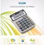 Kit 3 Calculadoras De Mesa Elgin Mv4122 Escritorios Lojas