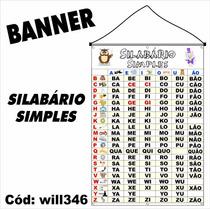 Banner Impresso Em Lona Digital Silabário Simples Will346