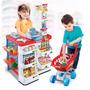 Supermercado De Brinquedo Caixa Eletrônico Com Som E Cédulas