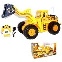 Maquina Tractor Bulldozer Con Control Remoto Juguete