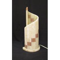 Lámpara De Onix Espiral De 42 Cms. De Altura Marqueteria