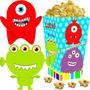 Kit Imprimible Monstruitos Monstruos Cotillon Candy Bar 2x1