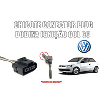 Plug/chicote/conector 4 Fios Bobina Ignição Gol Voyage G6