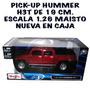 Camioneta Hummer H3t Doble Cabina Color Cobre,19 Cm. Nueva.