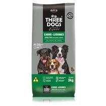 Ração Three Dogs Cães Adultos Carne E Legumes 15kg