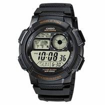Reloj Casio Ae1000 5 Alarmas Hora Mundial Crono Temporizador