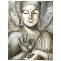 Cuadro Buda Apariencia Piedra Acrílico En Lienzo Decoración