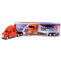 Miniatura Caminhão Kenworth T700 Com Container Vermelha