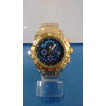 Relógio Masculino Barato Em Aço Dourado Marca Famosa