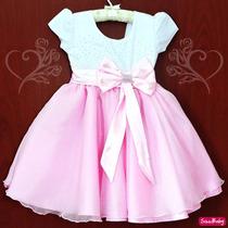 Vestido Gatinha Marie Minnie Rosa Princesa Realeza Com Tiara
