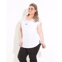 Blusa Feminina Plus Size Renda Verão Gordinha