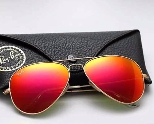 7f556fb79f180 Óculos Rayban Aviador Vermelho Masculino Feminino Original - R  99,99 em Mercado  Livre