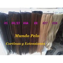 Cortinas Simil Pelo Natural Rubio Negro Chocolate Mundo Pelo