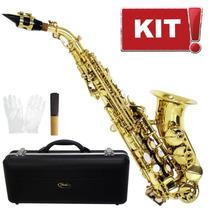 Saxofone Soprano Curvo Tjs6433l Bb Laq Shelter Sopranino