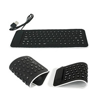 Mini Teclado Dobrável Flexível De Silicone Notebook Leptop