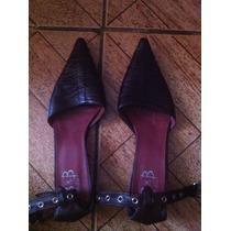 Zapatos De Mujer Marca Bahia Talla 37 100% Cuero