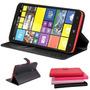 Capa Case Carteira Couro Nokia Lumia 1320 + Pelicula Premium