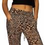 Pantalon Babucha De Mujer Diseño Animal Print Con Bolsillos