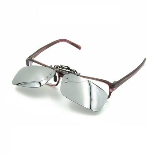 156944ccc55d3 Lentes De Sol Clip On P  Óculos Grau Uv400 Polarizado Prata - R  39 ...