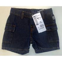 Shorts Hering Jeans Masculino Infantil - Tamanhos 1 E 2 Anos