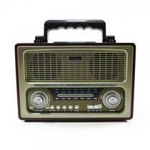 Radio Antigo Multifuncional Portátil Retro Am Fm Sw Usb Grav