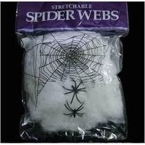 Kit Com 10 Teia De Aranha Decoração Halloween Homem Aranha