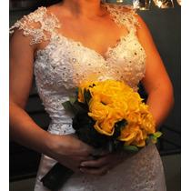 Vestido De Noiva / Casamento Sereia Bordado