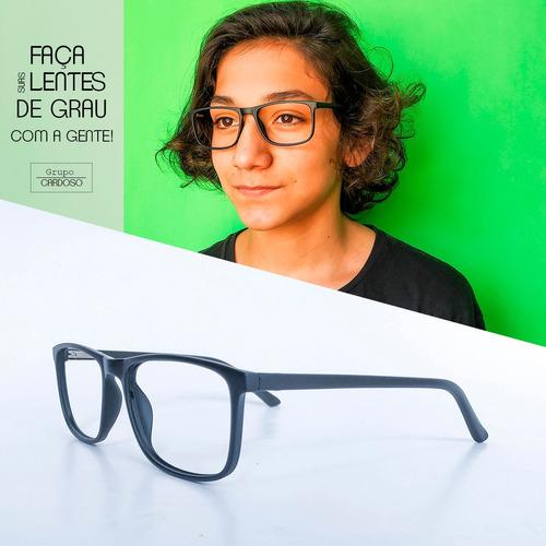 Armação Óculos Masculino Com Lentes Sem Grau Cpcb5808 Preto - R  63,97 em  Mercado Livre bef4f15885