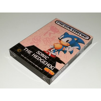 Caixa Sonic The Hedgehog + Berço Interno, Mega Drive!!