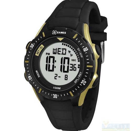 a2dc62dc6d6 Relógio Feminino Preto Dourado Digital X Games Xmppd435 - R  149
