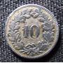 Moneda Antigua De Confoederatio Helvetica De 10 Año 1881