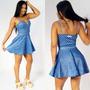 Vestido Godê Rodado Decote Tule Roupa Feminina Sexy Panicat