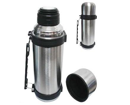 3145e9e98 Garrafa Térmica Inox 1 Litro Inquebrável - Com Alça - R  49
