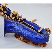 Sax Soprano / Sopranino Azul Chaves Douradas