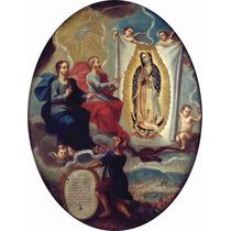 Lienzo La Virgen De Guadalupe Joaquín Villegas 1713 66x50 Cm