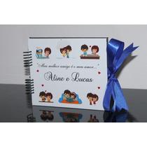 Álbum Scrapbook Personalizado Nome Data Namorados 5 Modelos