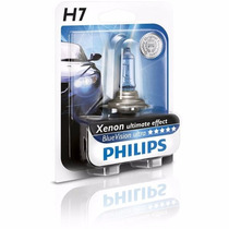 Lamparas Philips Blue Vision Xenon Effect H7 (12972bv+b1)