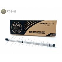 Antena Digital Externa Uhf Full Hd 34 Elementos Rt3401