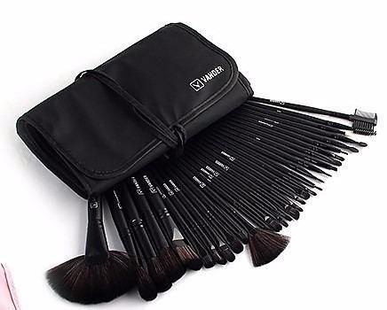 Kit 32 Pincéis Maquiagem Profissional Original Com Estojo - R  95,00 em  Mercado Livre ff63f3ab3f