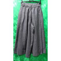 Calça Feminina De Lã Xadrez Modelo Pantalona Cintura Alta /p