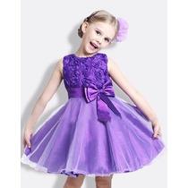 Vestido Infantil Festa Princesa Importado, Pronta Entrega!