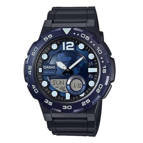 28c91e45c5a Relógio Casio Aeq-100w-2avdf Azul-marinho preto - R  289