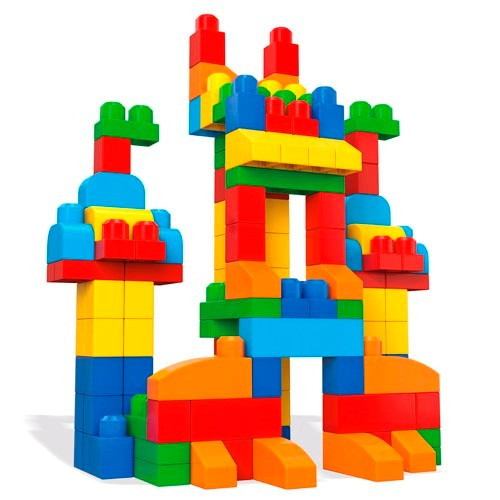 Caja de 250 bloques de juguete mega bloks fisher price for Builders first
