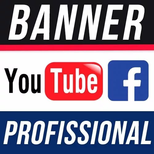 aa94275f5 Banner Youtube Canal Capa Facebook Profissional - R  34